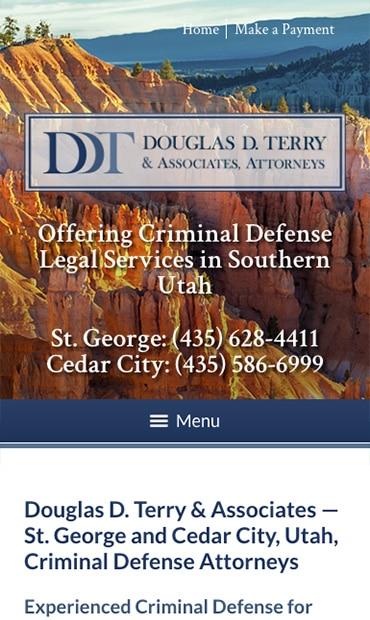 Responsive Mobile Attorney Website for Douglas D. Terry & Associates, Attorneys PLLC