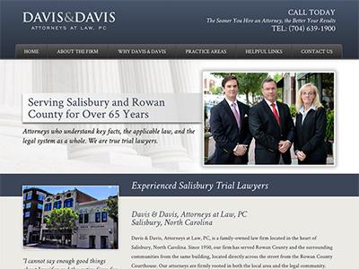 Law Firm Website design for Davis & Davis, Attorneys…