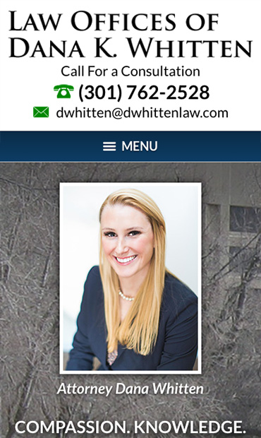 Responsive Mobile Attorney Website for Law Offices of Dana K. Whitten