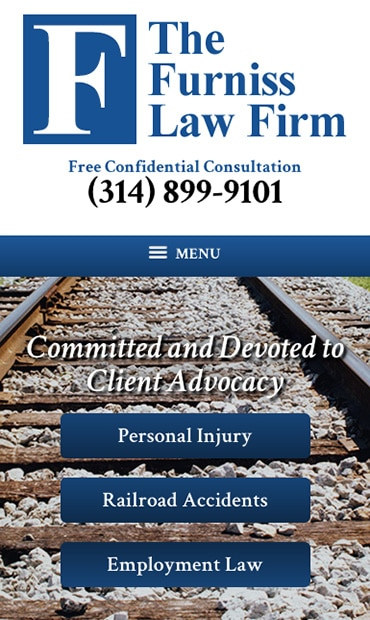 Responsive Mobile Attorney Website for The Furniss Law Firm, LLC