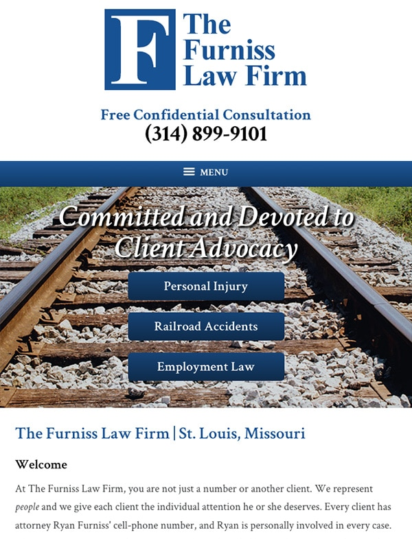 Mobile Friendly Law Firm Webiste for The Furniss Law Firm, LLC