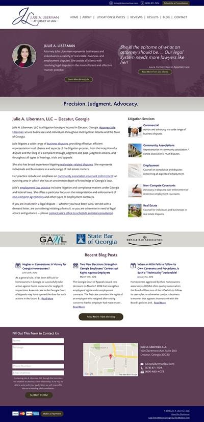Law Firm Website Design for Julie A. Liberman, LLC