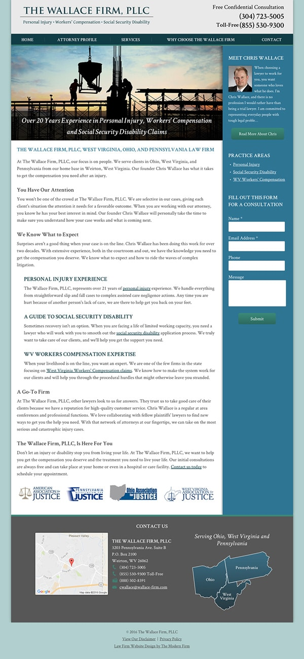 Law Firm Website Design for The Wallace Firm, PLLC
