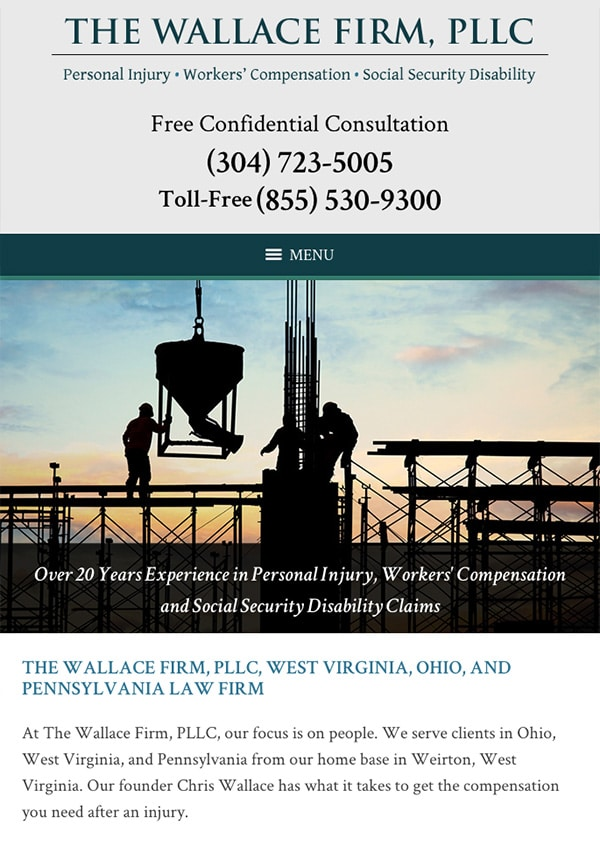 Mobile Friendly Law Firm Webiste for The Wallace Firm, PLLC