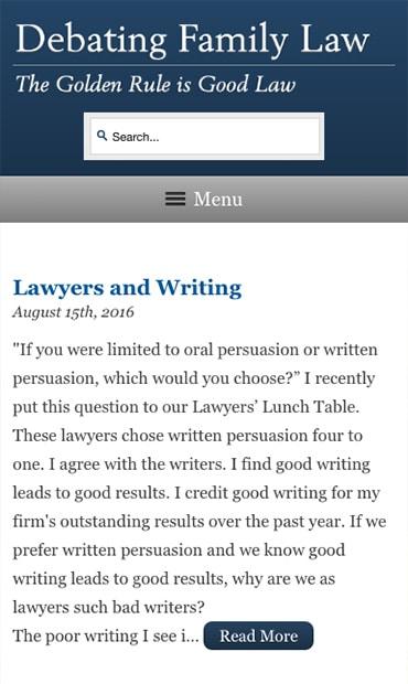 Responsive Mobile Attorney Website for McDow & Urquhart LLC