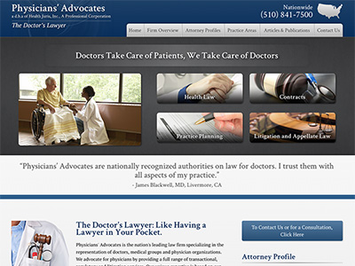 Law Firm Website design for Physicians' Advocates