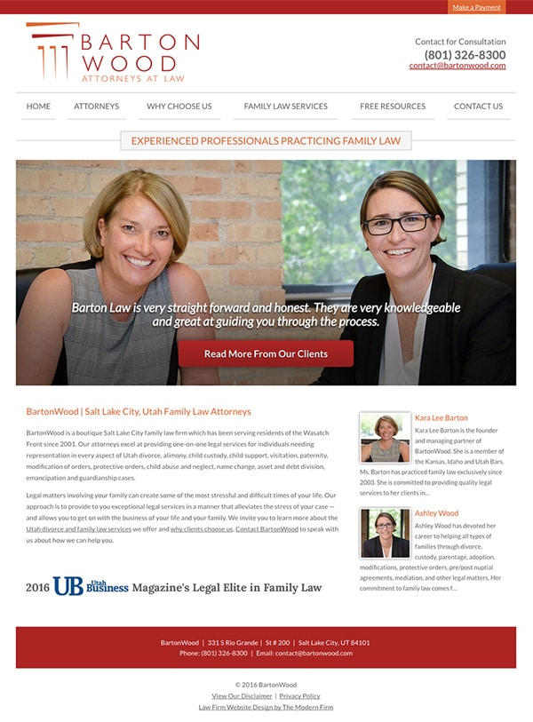 Law Firm Website for BartonWood