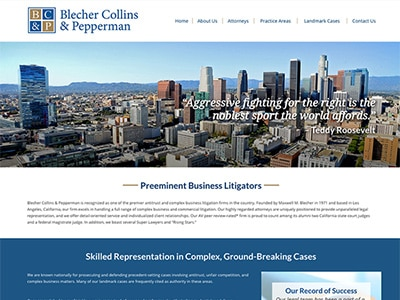 Law Firm Website design for Blecher Collins & Pepperm…