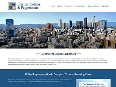 Law Firm Website design for Blecher Collins & Pepperm…
