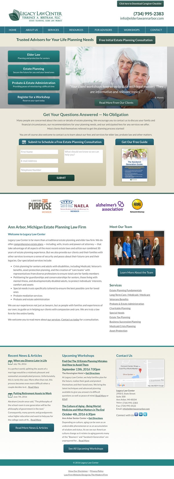 Law Firm Website Design for Legacy Law Center