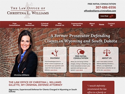Law Firm Website design for Christina L. Williams, At…