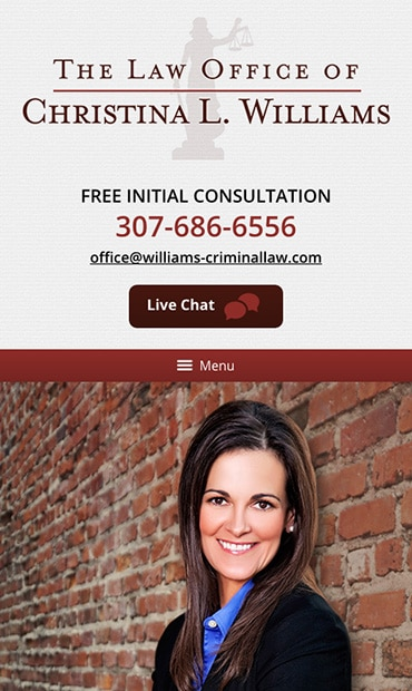 Responsive Mobile Attorney Website for Christina L. Williams, Attorney at Law