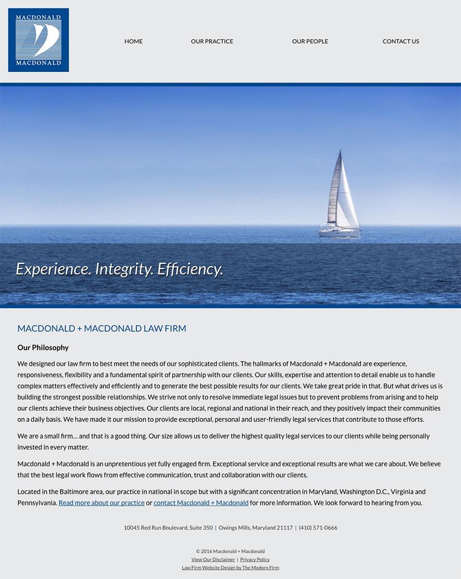 Law Firm Website Design for Macdonald + Macdonald