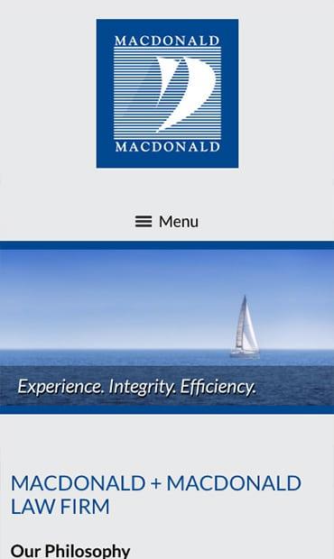 Responsive Mobile Attorney Website for Macdonald + Macdonald