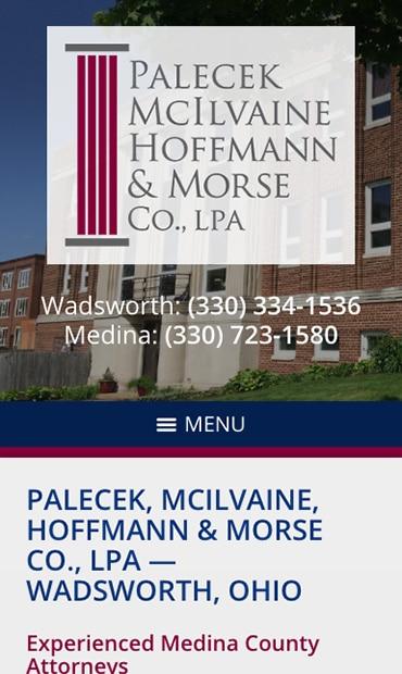 Responsive Mobile Attorney Website for Palecek, McIlvaine, Hoffmann & Morse Co., LPA
