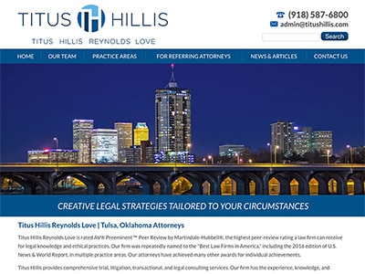 Law Firm Website design for Titus Hillis Reynolds Lov…