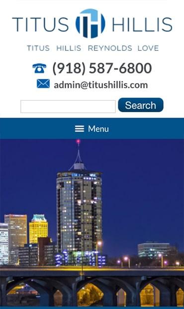 Responsive Mobile Attorney Website for Titus Hillis Reynolds Love