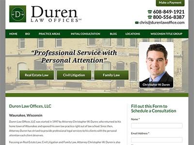 Law Firm Website design for Duren Law Offices, LLC
