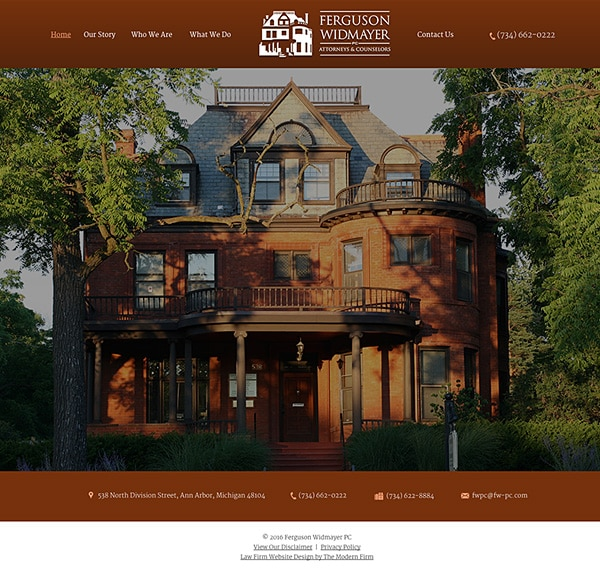 Law Firm Website Design for Ferguson Widmayer PC