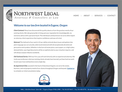 Law Firm Website design for Northwest Legal
