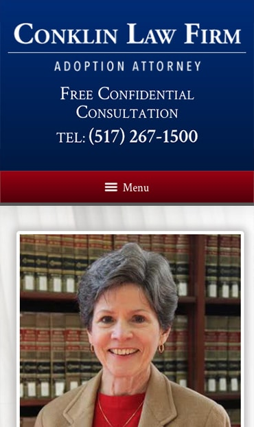 Responsive Mobile Attorney Website for Conklin Law Firm