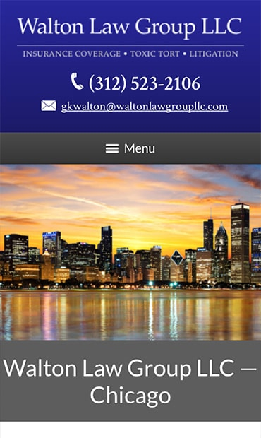 Responsive Mobile Attorney Website for Walton Law Group LLC