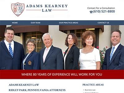 Law Firm Website design for Adams Kearney LLC