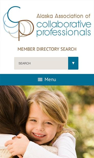 Responsive Mobile Attorney Website for Alaska Association of Collaborative Professionals