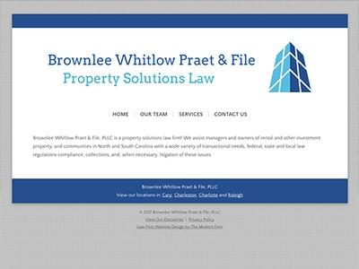 Law Firm Website design for Brownlee Whitlow Praet &…