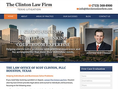 Law Firm Website design for The Law Office of Scot Cl…