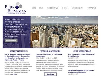 Law Firm Website Design for Bejin Bieneman, PLC