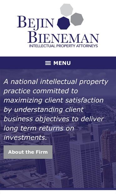 Responsive Mobile Attorney Website for Bejin Bieneman, PLC