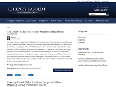 Law Firm Website design for C. Henry Fasoldt, Attorne…