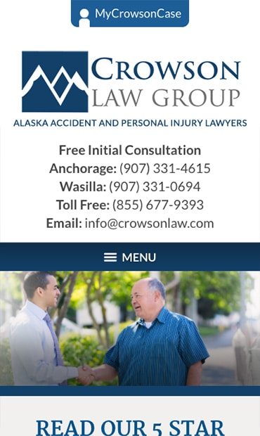Responsive Mobile Attorney Website for Crowson Law Group