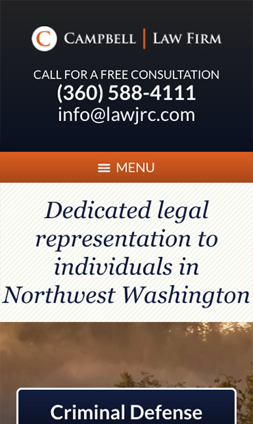 Responsive Mobile Attorney Website for Campbell Law Firm