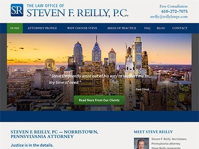 Law Firm Website design for Steven F. Reilly, PC