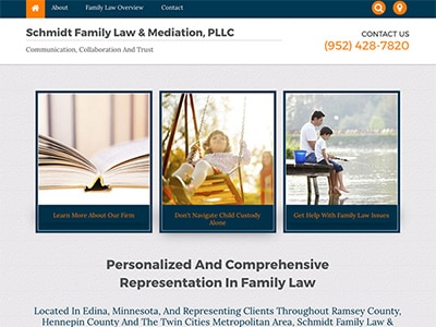 Law Firm Website design for Schmidt Family Law & Medi…