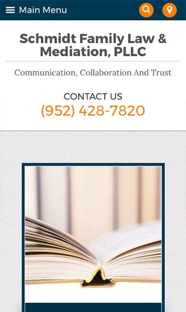 Responsive Mobile Attorney Website for Schmidt Family Law & Mediation, PLLC