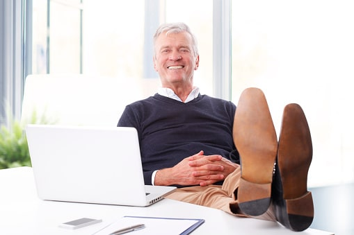 Lawyer Happy About Email Drip Campaign