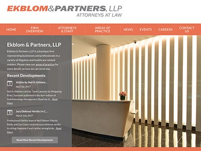 Law Firm Website design for Ekblom & Partners, LLP