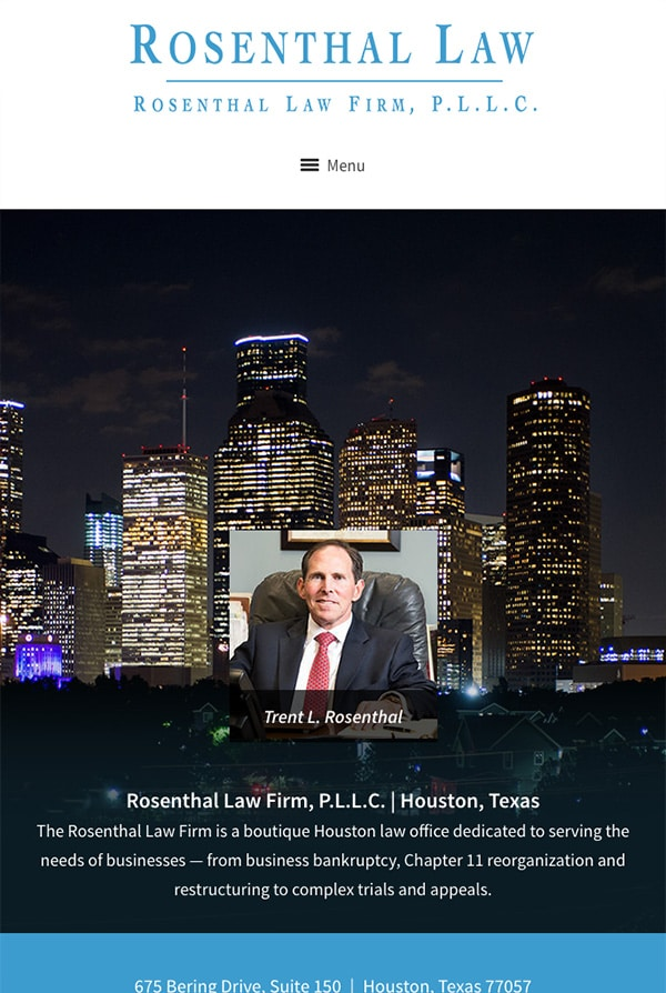 Mobile Friendly Law Firm Webiste for Rosenthal Law Firm, P.L.L.C.