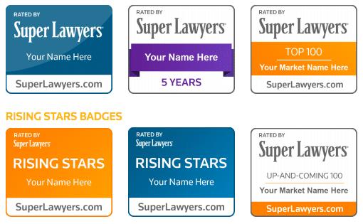 Super Lawyers Badges