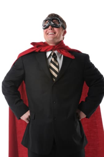 Super Lawyer with Cape