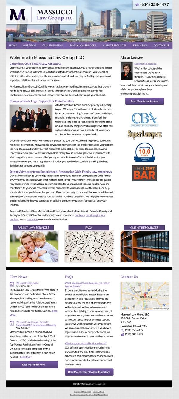 Law Firm Website Design for Massucci Law Group LLC