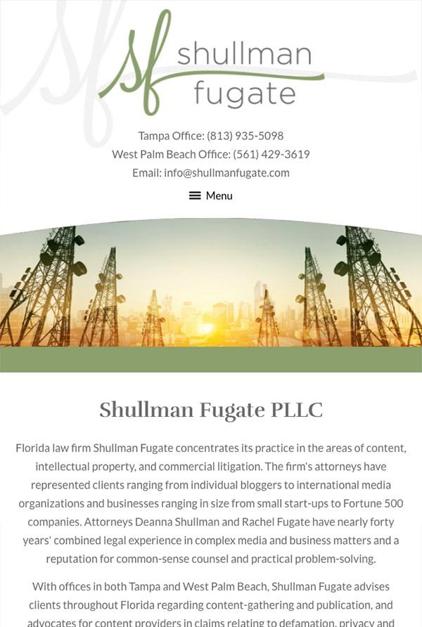 Mobile Friendly Law Firm Webiste for Shullman Fugate PLLC