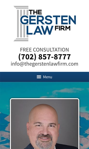 Responsive Mobile Attorney Website for The Gersten Law Firm PLLC