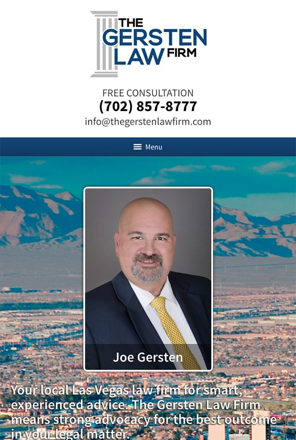 Mobile Friendly Law Firm Webiste for The Gersten Law Firm PLLC