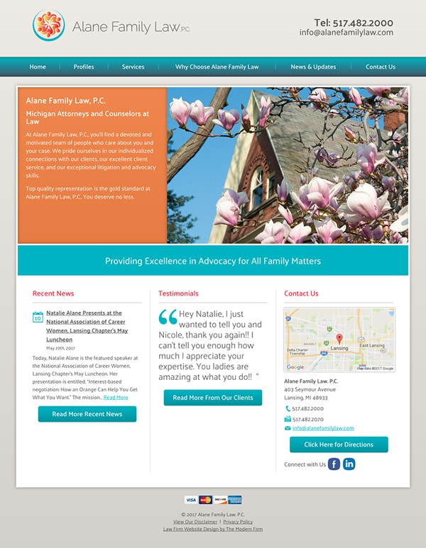 Law Firm Website Design for Alane Family Law. P.C.