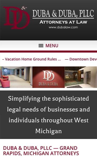 Responsive Mobile Attorney Website for Duba & Duba, PLLC