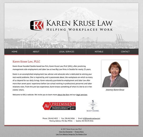Law Firm Website Design for Karen Kruse Law, PLLC
